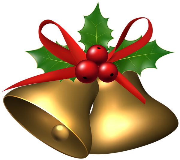Large_Christmas_Bells_with_Holly_PNG_Clip_Art_Image